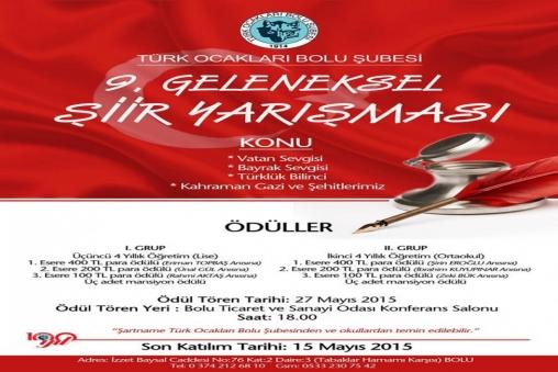 Bolu Ekspres Türk Ocaklari şiir Yarişmasi Düzenliyor