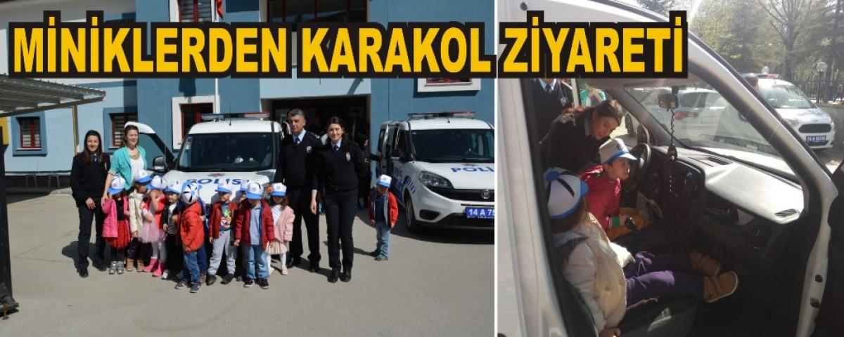 Bolu Ekspres Miniklerden Karakol Ziyareti